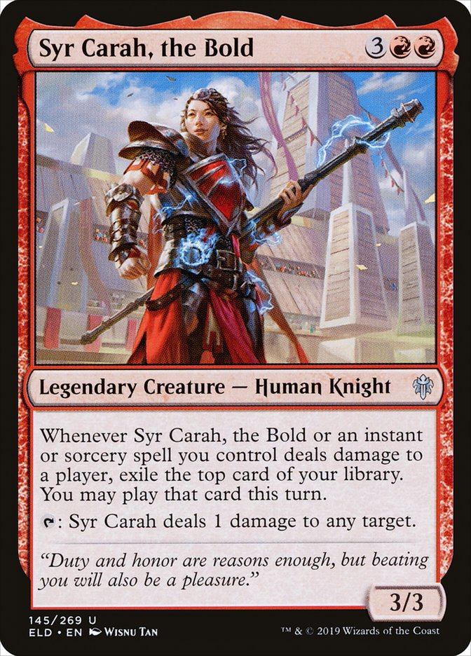 Syr Carah, the Bold