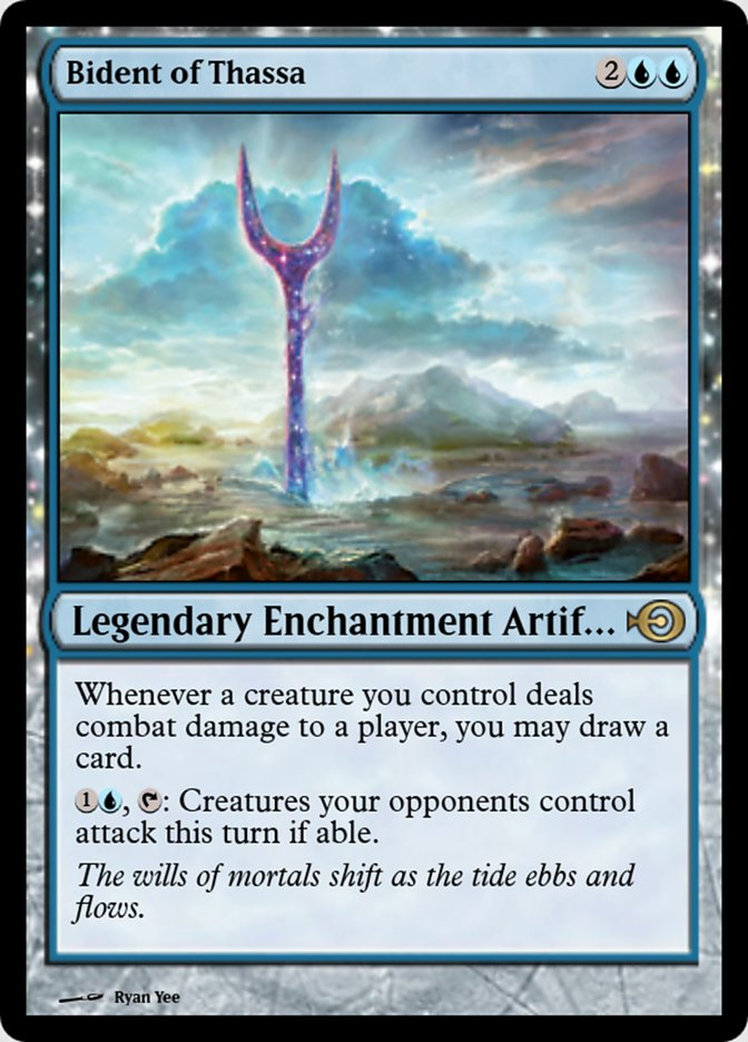 Bident Of Thassa Magic Online Promos Prm 50114 Scryfall Magic The Gathering Search