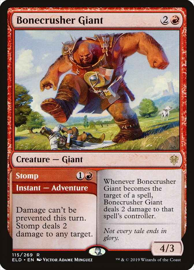 Bonecrusher Giant - Magic: the Gathering