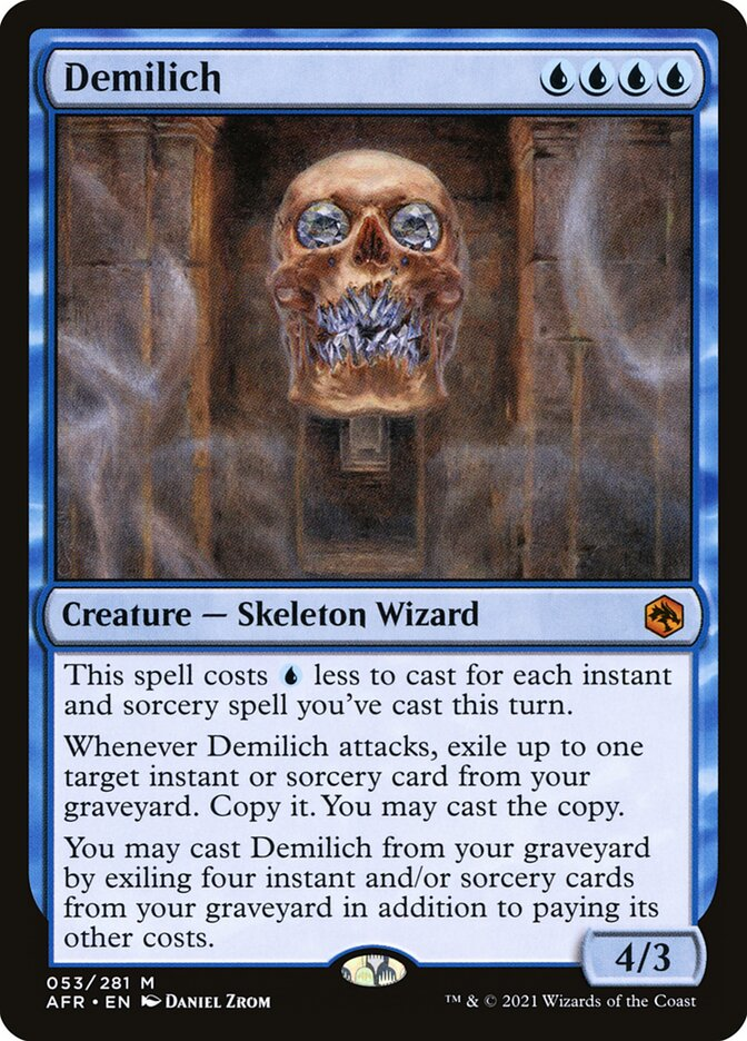 Demilich · Adventures in the Forgotten Realms (AFR) #53 · Scryfall Magic: The Gathering Search