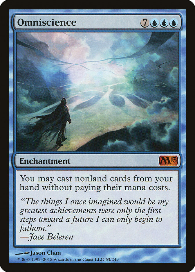 Omniscience · Magic 2013 (M13) #63 · Scryfall Magic: The Gathering Search