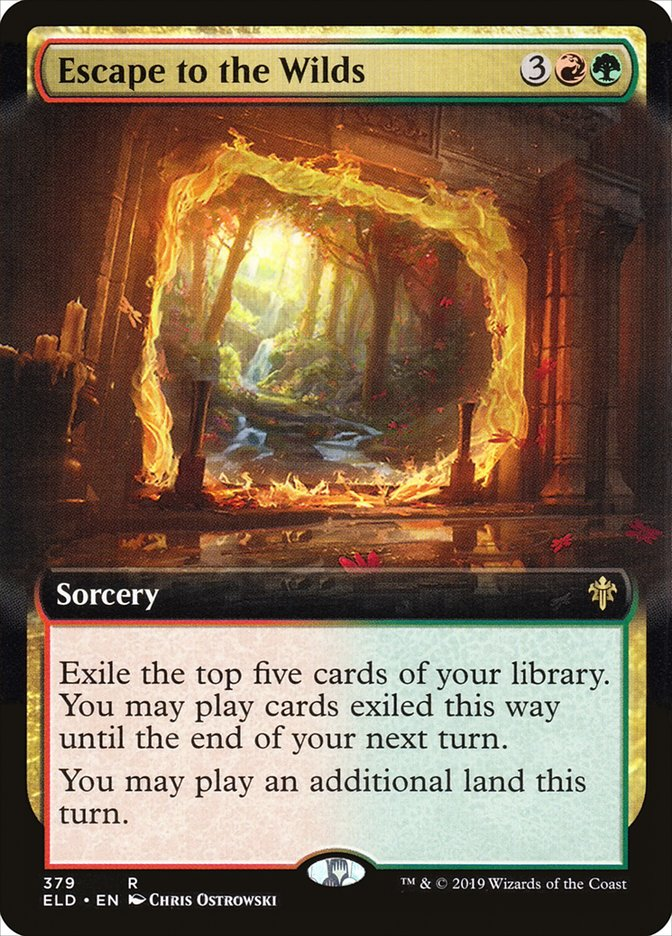 Escape To The Wilds Throne Of Eldraine Eld 379 Scryfall Magic The Gathering Search