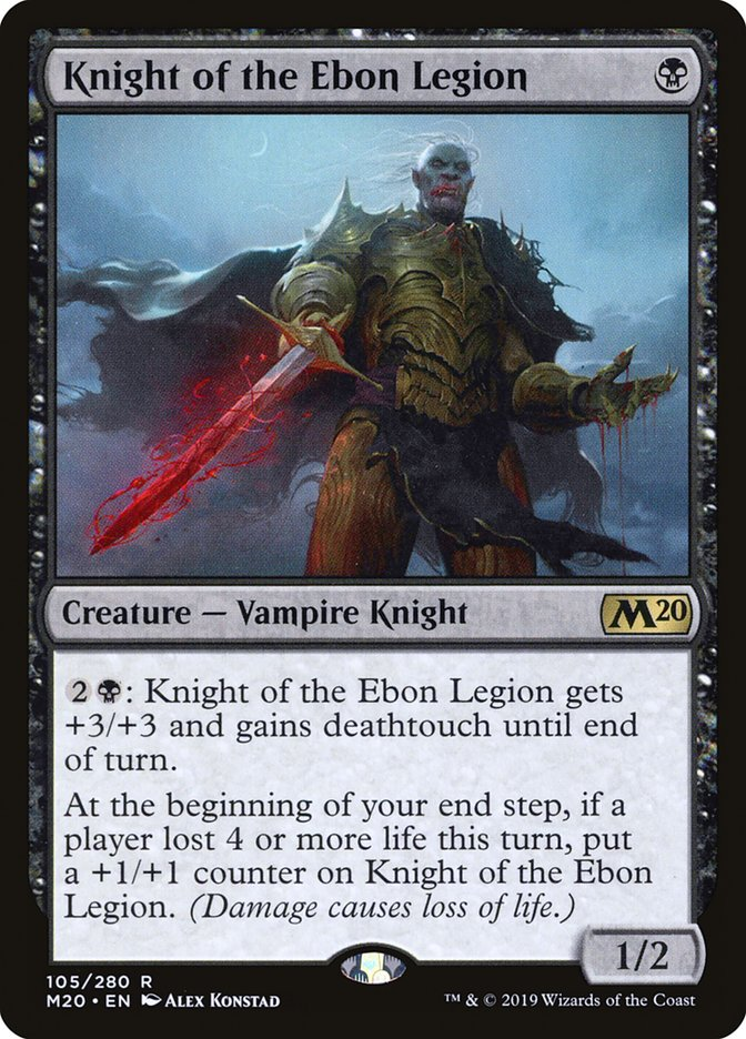 Knight of Ebon Legion - Magic: the Gathering