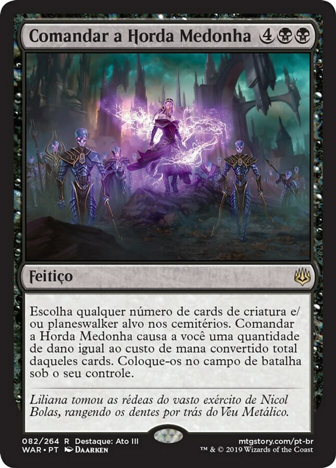 Command the Dreadhorde | Comandar a Horda Medonha - carta de