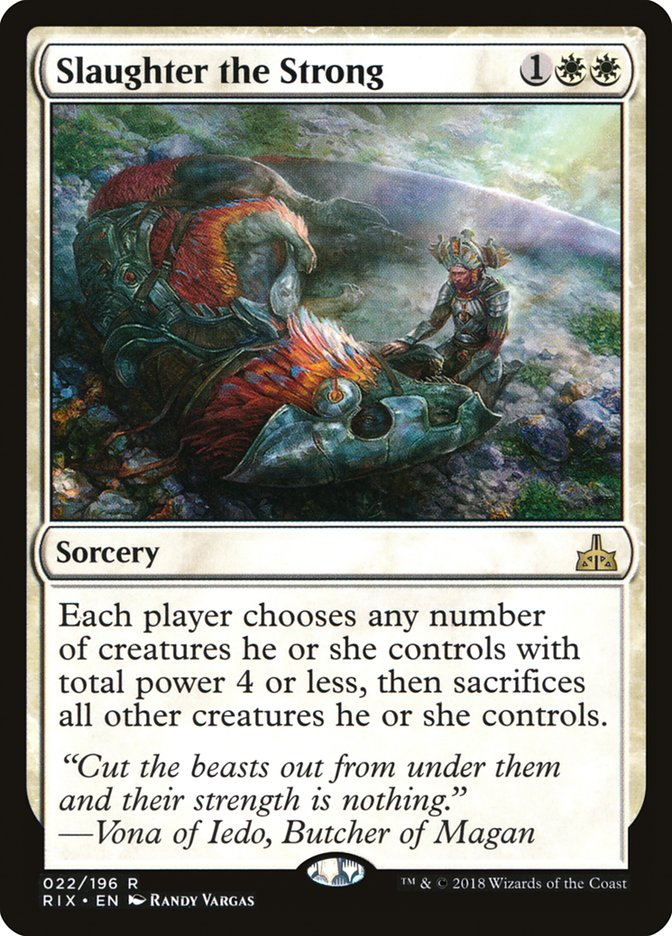 NEW MTG Rivals of Ixalan Slaughter the Strong
