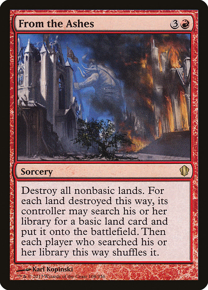 From the Ashes (Commander 2013)