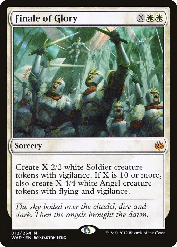 Finale of Glory War of the Spark NM White Mythic Rare MAGIC MTG CARD ABUGames