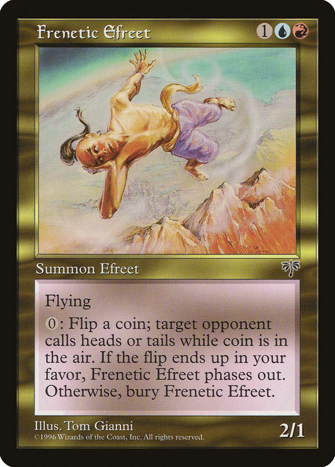 Frenetic Efreet · Mirage (MIR) #264 · Scryfall Magic: The Gathering Search