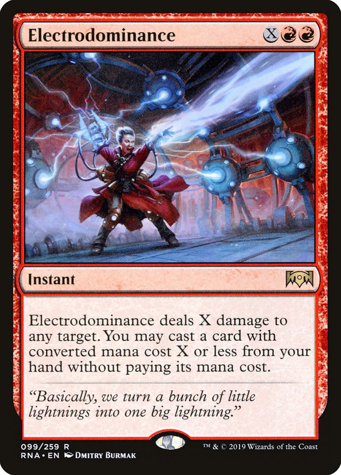 Rare Ravnica Allegiance Magic//mtg Electrodominance