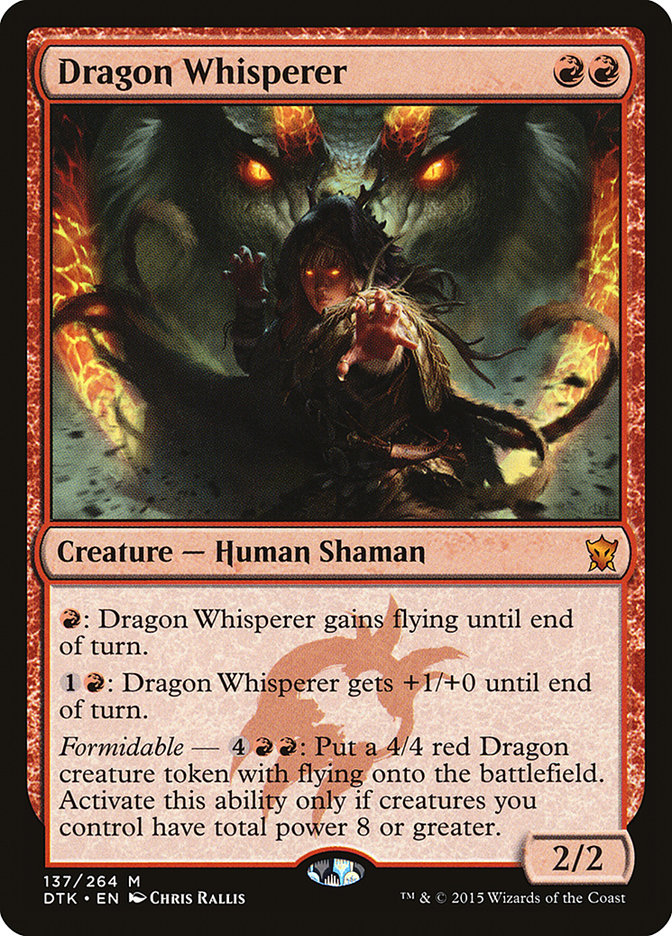 DESCENT OF THE DRAGONS Dragons of Tarkir MTG Red Sorcery Mythic Rare