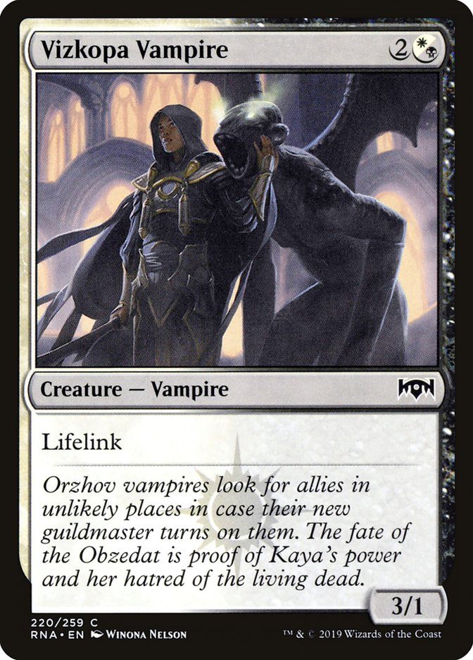 Vizkopa Vampire Ravnica Allegiance Rna 220 Scryfall Magic The Gathering Search More than 231 pioneer vampires decks from the best players around the world. vizkopa vampire ravnica allegiance