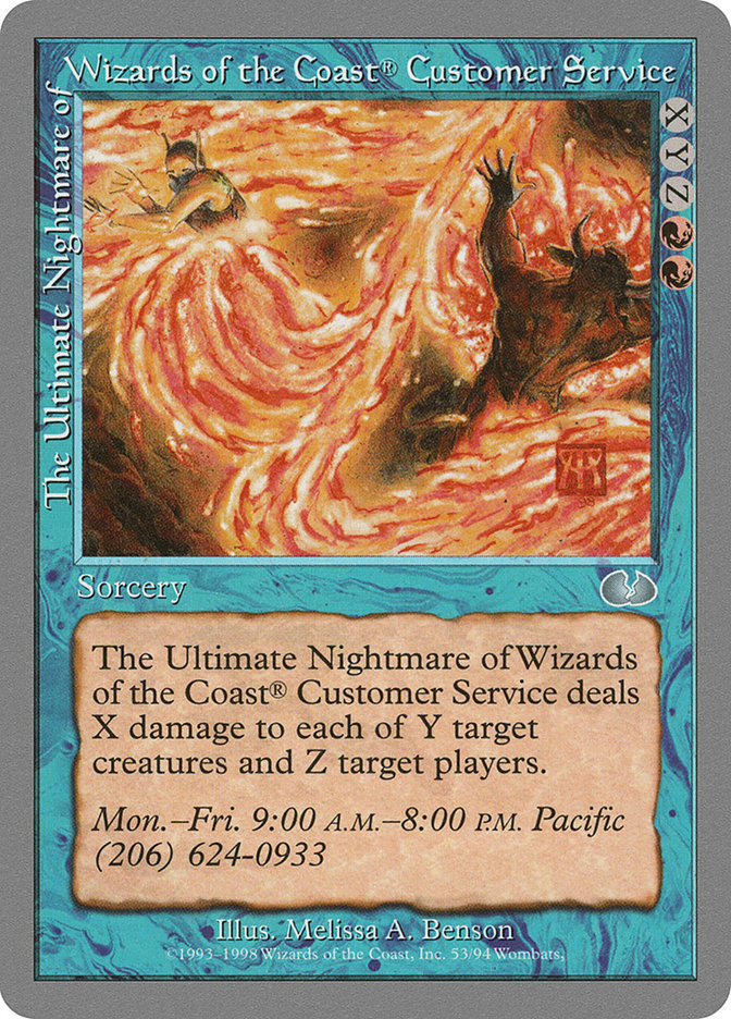 The Ultimate Nightmare of Wizards of the Coast® Customer Service (Unglued)