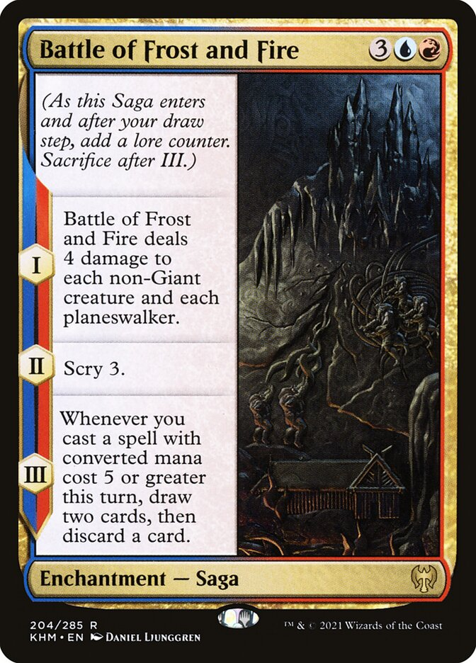 Battle of Frost and Fire · Kaldheim (KHM) #204 · Scryfall Magic: The Gathering Search