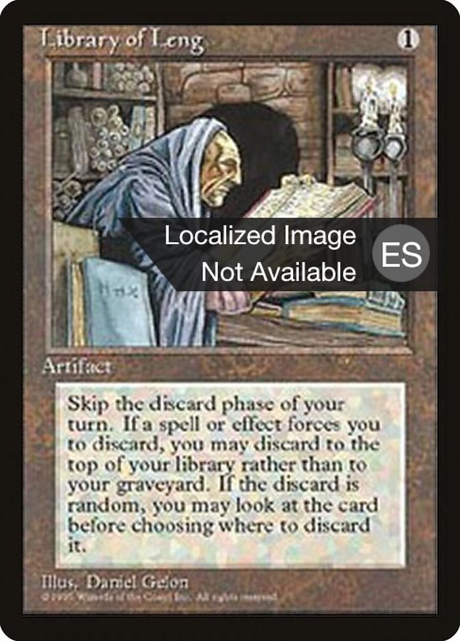 3x Library of Leng PL MTG Fourth Edition 4th Magic
