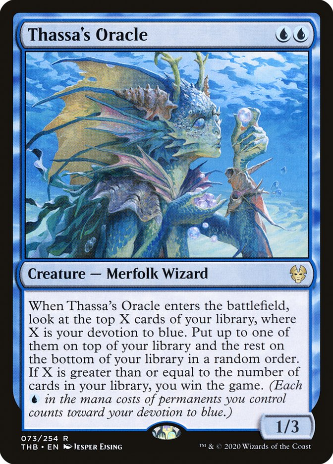 Thassa's Oracle blue meta Magic: The Gathering Arena Theros Beyond Death
