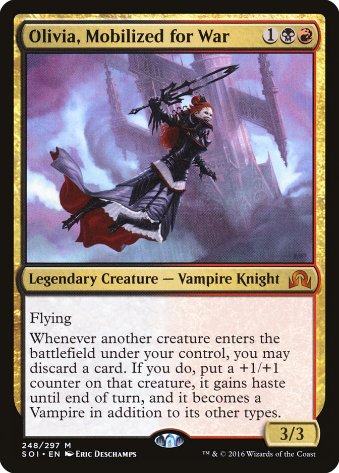 Mobilized for War Shadows Over Innistrad mag 4x NM-Mint English Regular Olivia