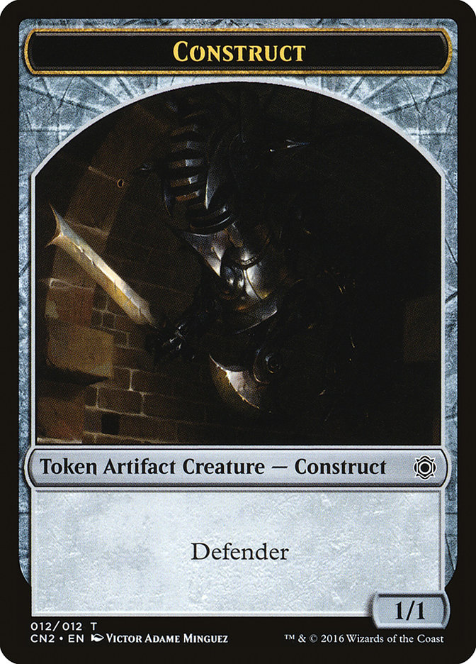 8//9 10X 1//1 Defender Construct Token NM Conspiracy MTG Magic Cards Flamewright