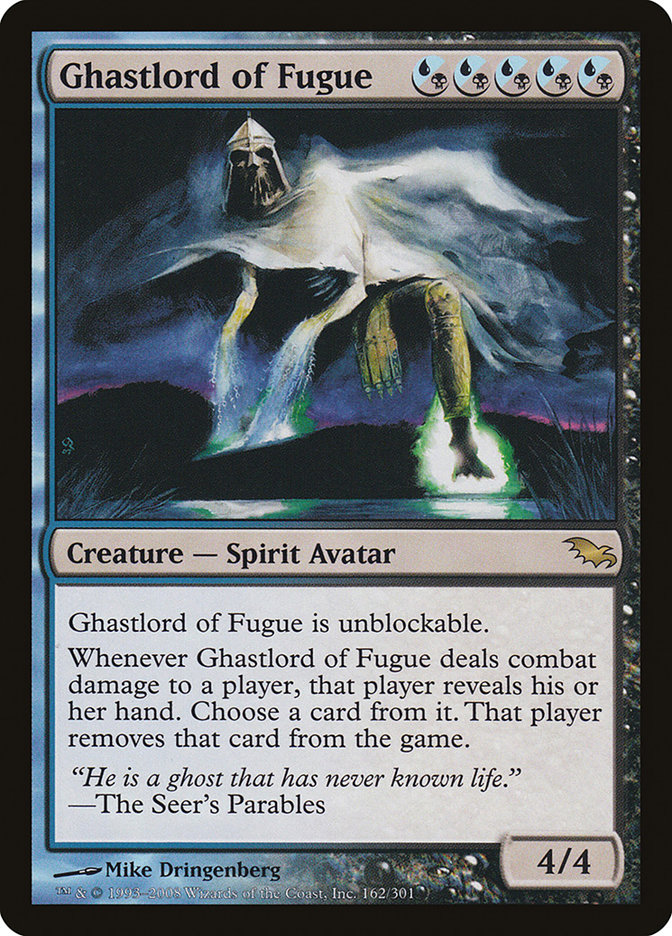 Ghastlord of Fugue ~ Shadowmoor ~ Excellent ~ Magic The Gathering