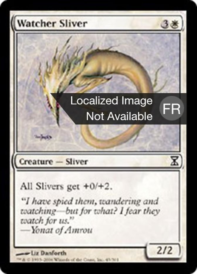 Time Spiral Magic the Gathering Watcher Sliver