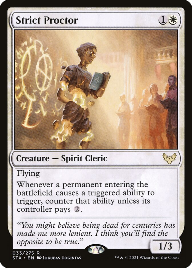 Strict Proctor · Strixhaven: School of Mages (STX) #33 · Scryfall Magic:  The Gathering Search