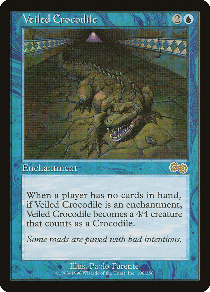 Veiled Crocodile (Urza's Saga)