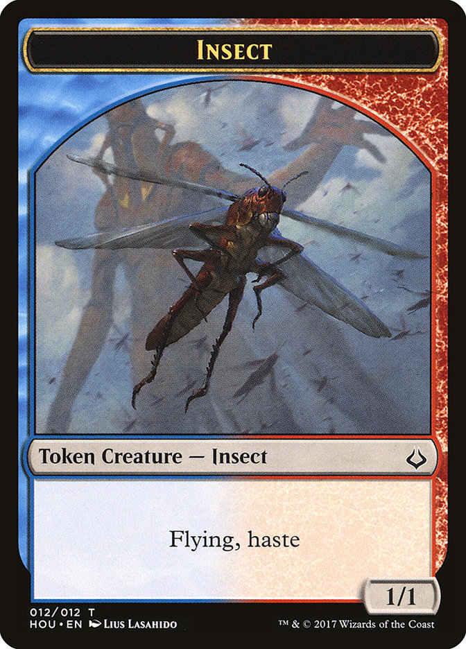 011//012 Common - Conspiracy: Take the Crown 4 x Insect Token