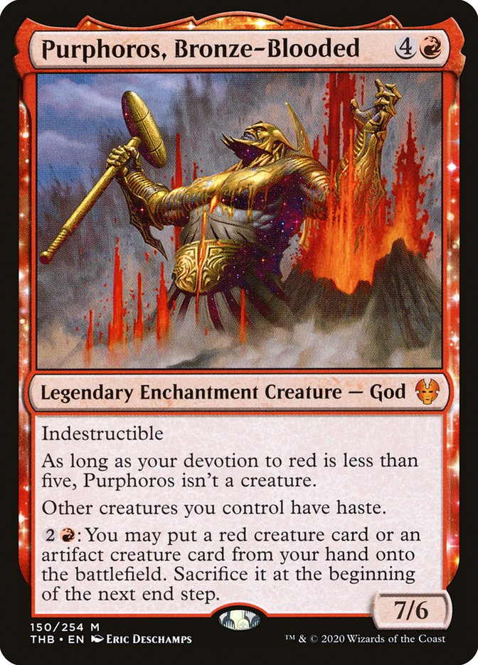 Purphoros, Bronze-Blooded Magic: The Gathering Arena Theros Beyond Death: A new red meta