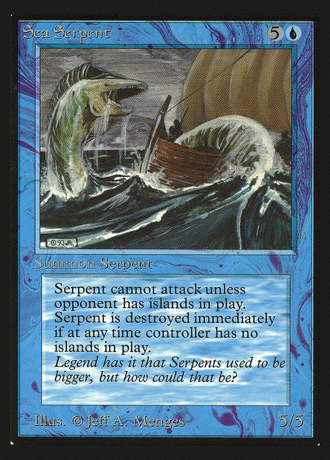 Sea Serpent | Serpente Marinha - carta de Magic: the Gathering - MTG