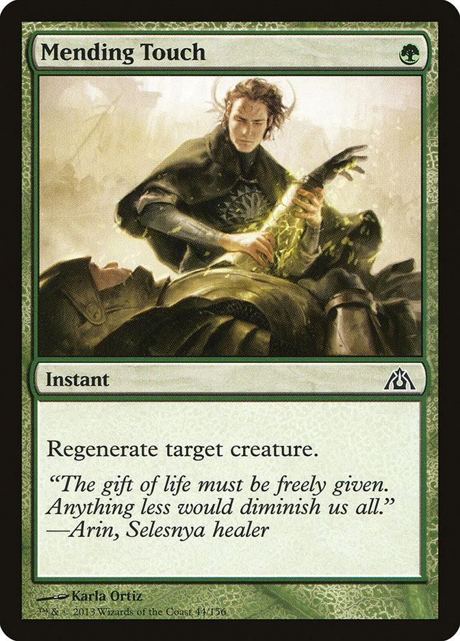 Mending Touch Dragon S Maze Dgm 44 Scryfall Magic The Gathering Search When you sacrifice a creature, on the other hand, it is just put in the graveyard from play, and cannot be regenerated. mending touch dragon s maze