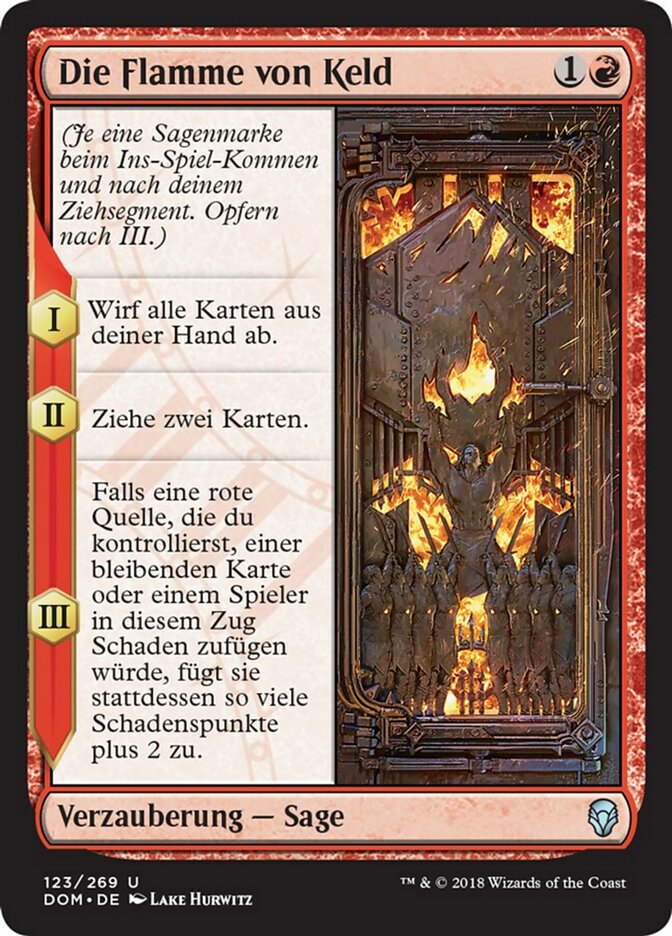 Die Flamme von Keld · Dominaria (DOM) #123 · Scryfall Magic