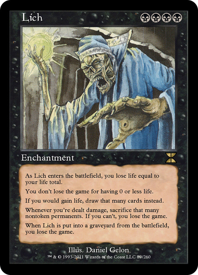 lich · masters edition iv me4 89 · scryfall magic the