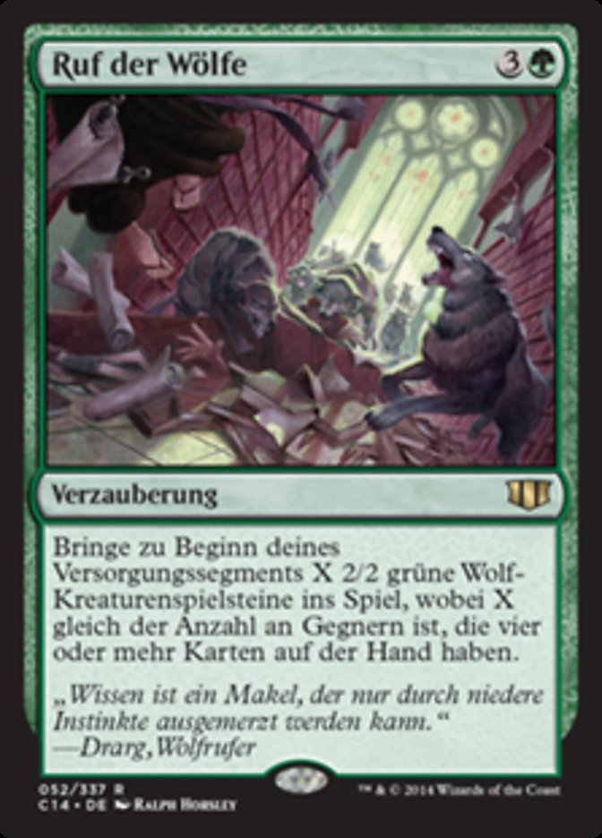Ruf Der Wölfe Wolfcaller S Howl Commander 2014 C14 52 Scryfall Magic The Gathering Search