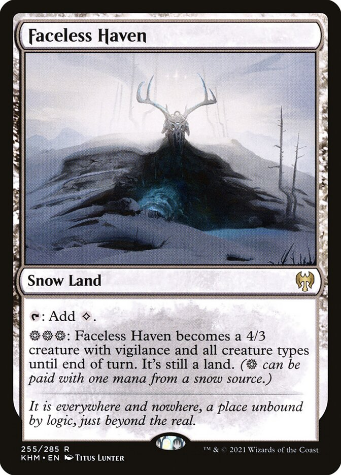 Faceless Haven · Kaldheim (KHM) #255 · Scryfall Magic: The Gathering Search