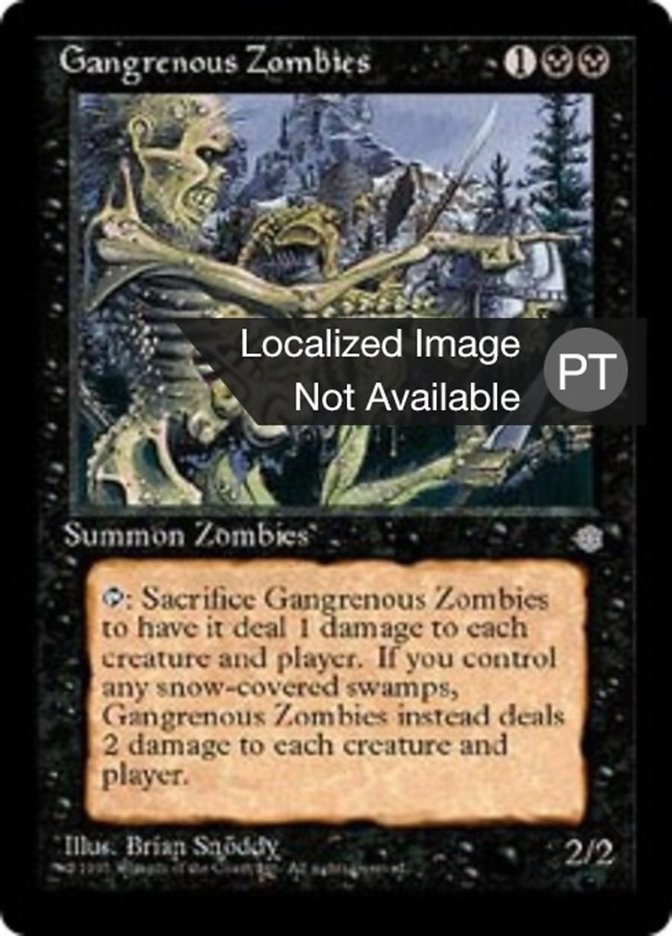Gangrenous Zombies | Zumbis Gangrenosos - carta de Magic