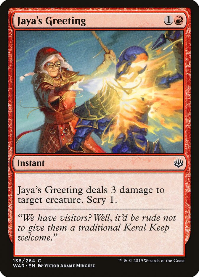 Jaya's Greeting (War of the Spark)