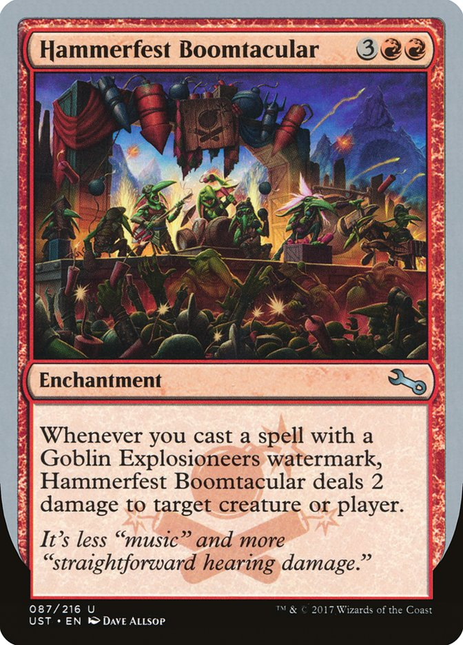 MtG Magic the Gathering Unstable The Goblin Explosioneers Contraption Deck