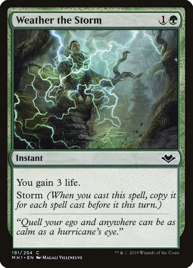 Weather the Storm · Modern Horizons (MH1) #191 · Scryfall Magic: The  Gathering Search