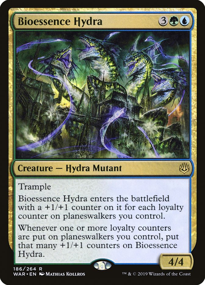 Details about  /MTG Magic Card Rare War of the Spark #186 Bioessence Hydra Mint