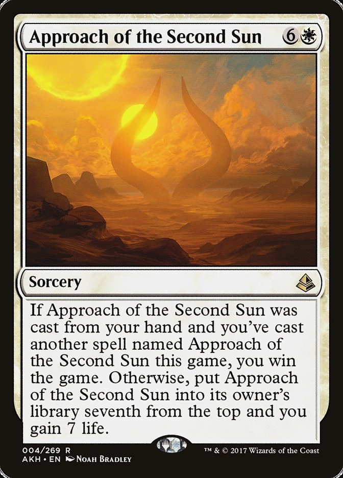 Approach Of The Second Sun Amonkhet Akh 4 Scryfall Magic The