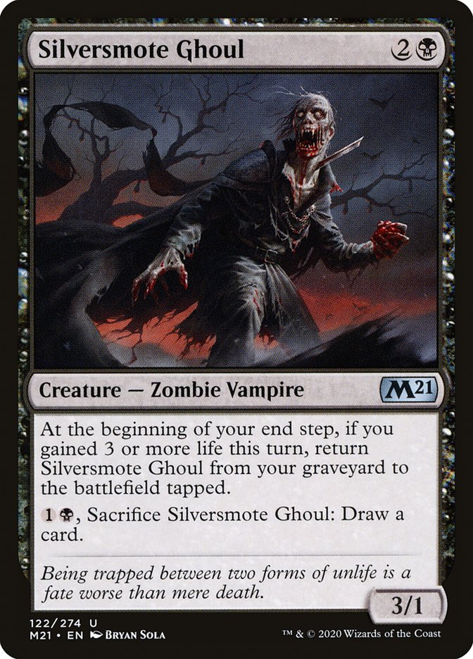 silversmote ghoul · core set 2021 m21 122 · scryfall
