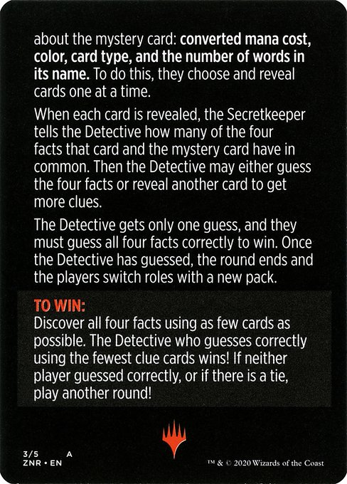 Booster Sleuth // Booster Sleuth (cont'd) (MZNR)