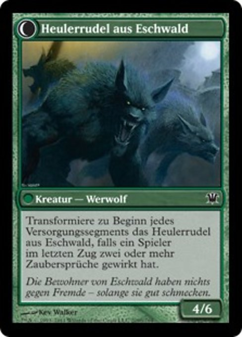 Villagers of Estwald // Howlpack of Estwald (ISD)