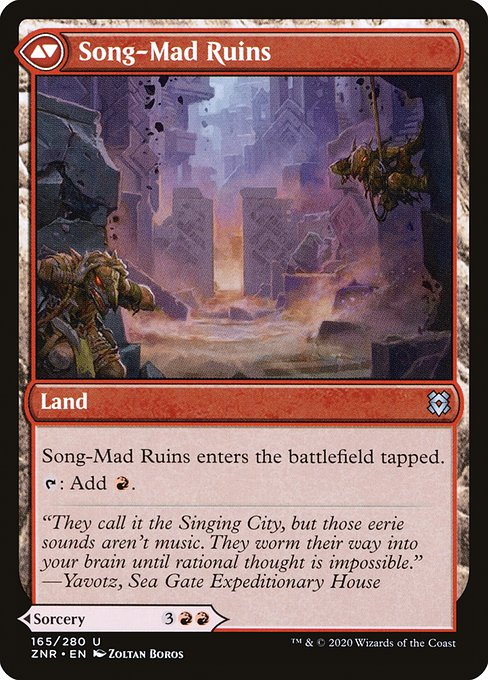 Song-Mad Treachery // Song-Mad Ruins (ZNR)