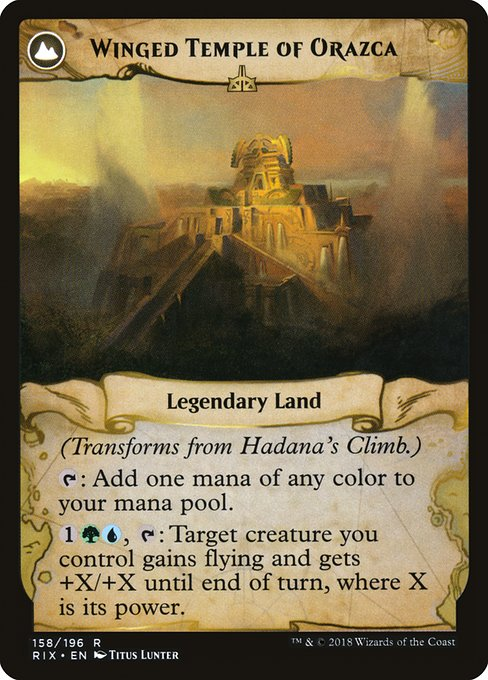 Hadana's Climb // Winged Temple of Orazca (RIX)