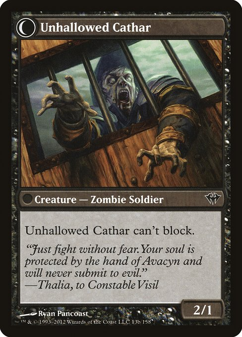 Loyal Cathar // Unhallowed Cathar (DKA)