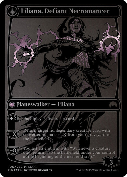 Liliana, Heretical Healer // Liliana, Defiant Necromancer (PS15)