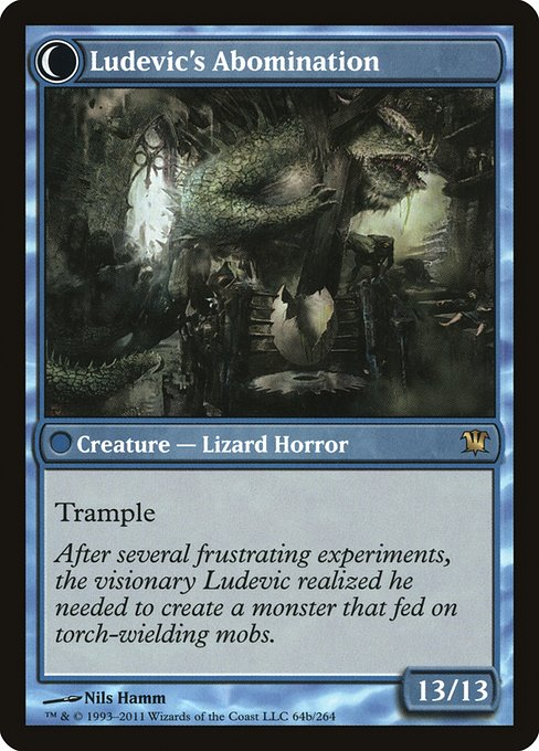 Ludevic's Test Subject // Ludevic's Abomination (ISD)