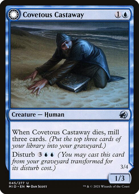 Covetous Castaway // Ghostly Castigator (MID)