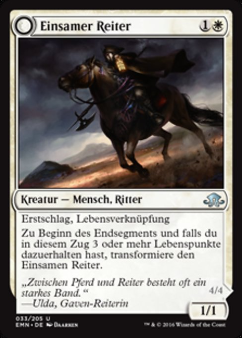 Lone Rider // It That Rides as One (EMN)