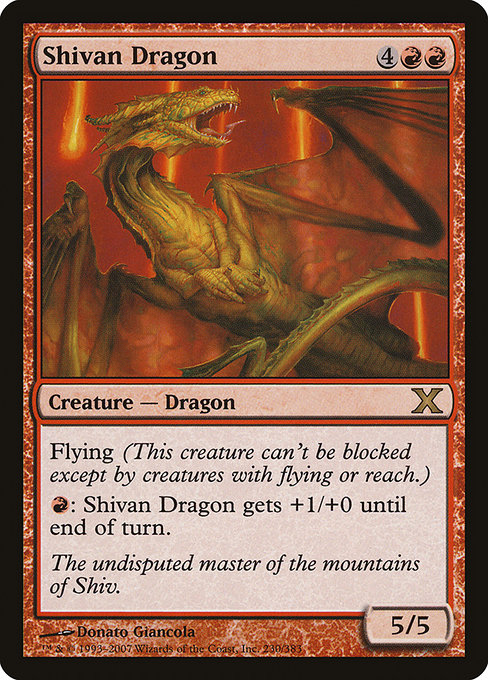 Shivan Dragon (10E)